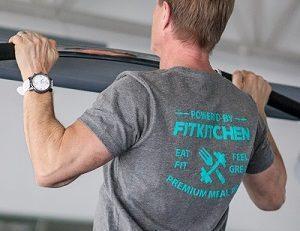 Fit Kitchen owner Jason Zaran in gym